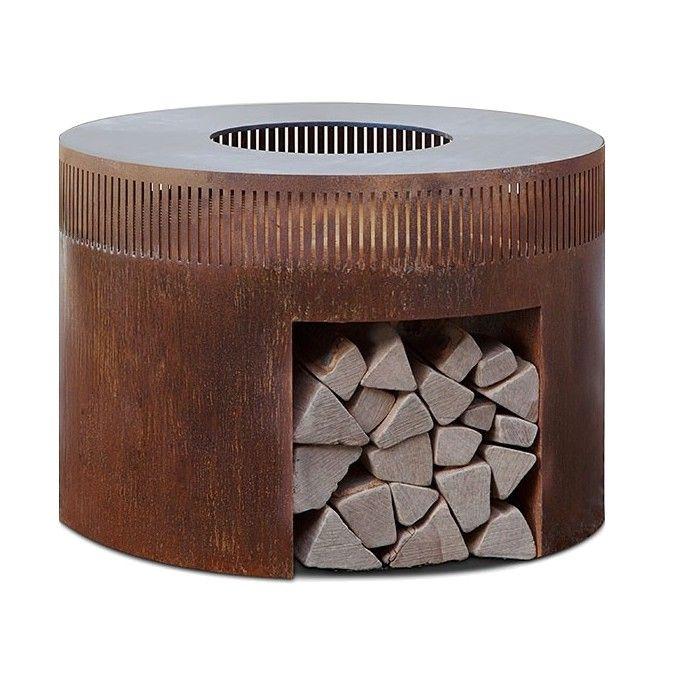 Ein Funktionelles Kunstwerk: Diese Robuste Feuerschale Mit Grillring Aus  Stahl Vereint Design Und Funktionalität Auf
