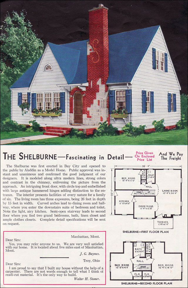 The shelburne 1940 aladdin kit homes it used to be you for 1940s house plans