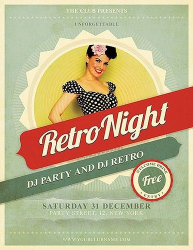 Retro Flyer Design Graphicdesign Poster Flyers Illustration Inspiration
