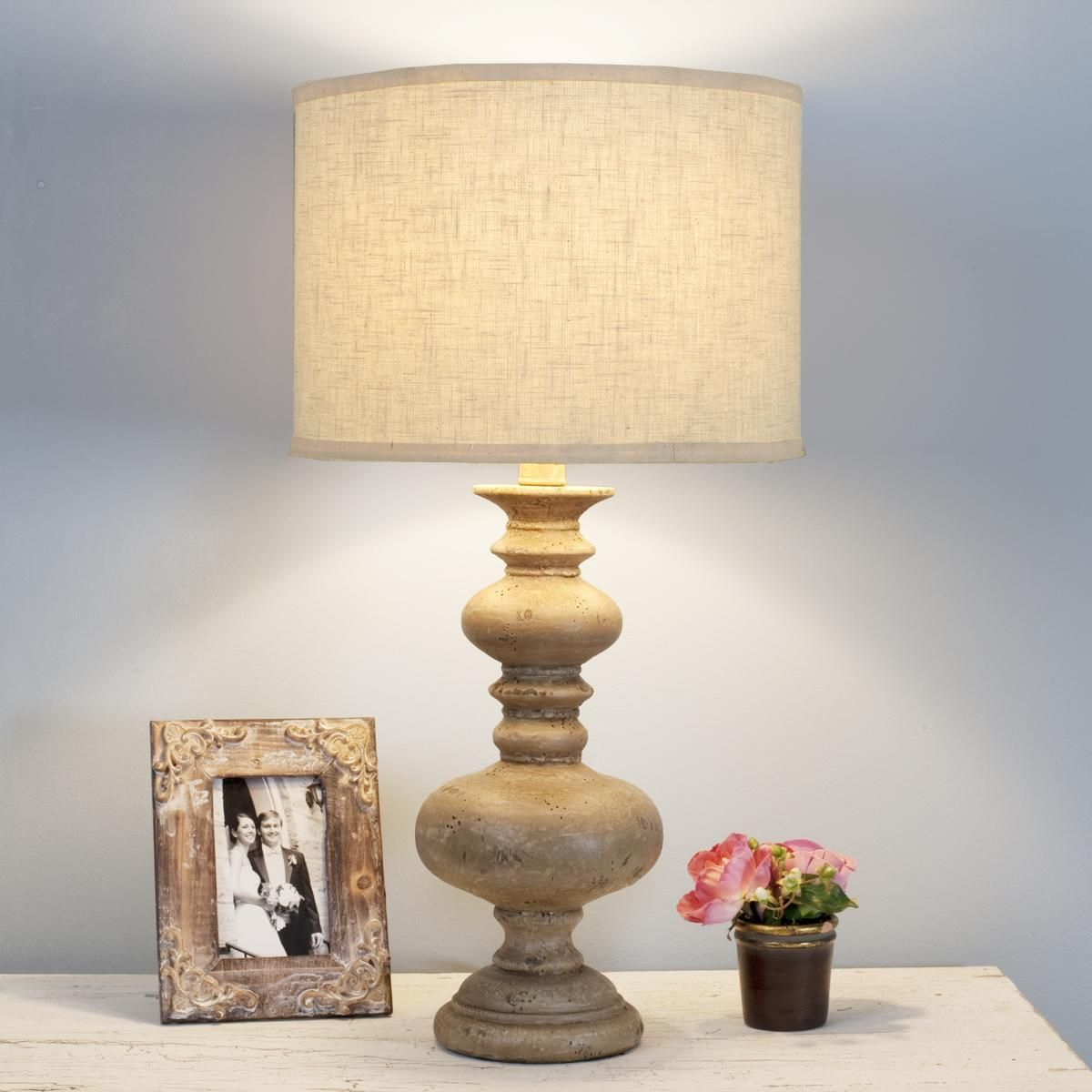 Vintage Spindle Table Lamp Rustic Table Lamps Unique Table