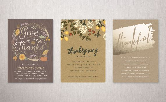 "Festive Affair Holiday Party Invitations Challenge: Runners Up - ""Fall Foliage"" by Hooray Creative 