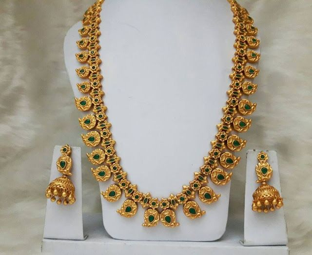 1 Gram Gold Mango Mala Designs Gold Diamond Gold