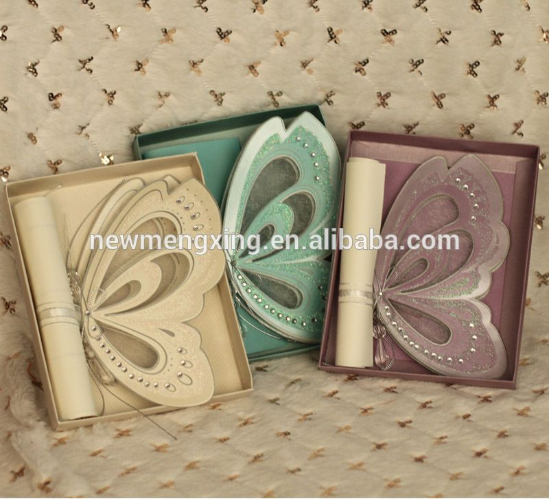 premium 3D Butterfly Wedding Invitations Wholesale T192 | Convites ...