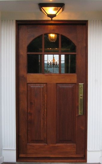 Arched French Doors Exterior