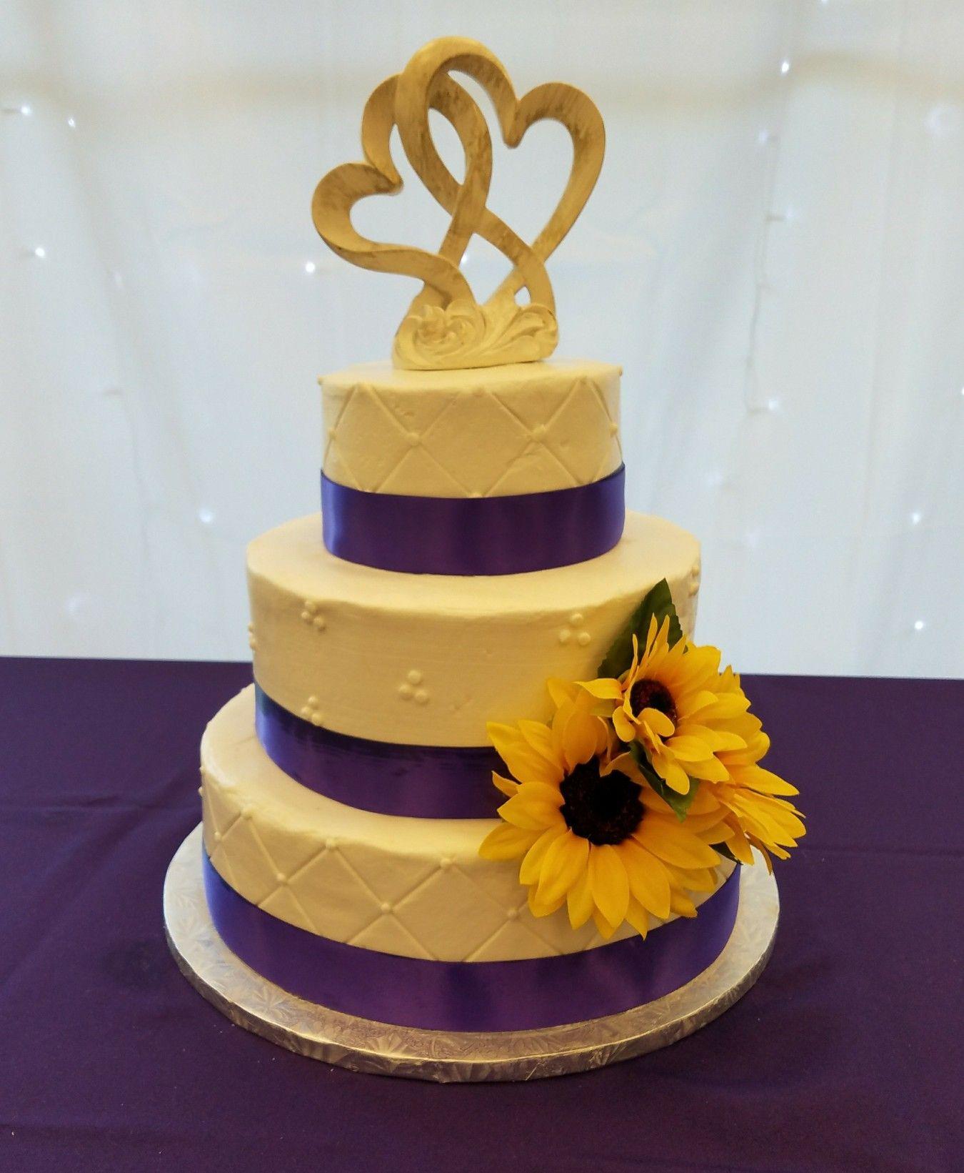 Purple sunflower wedding cake | Wedding cakes in 2018 | Pinterest ...