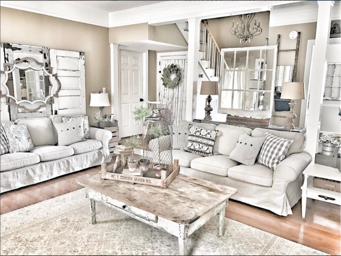 A Gorgeous, Layered Farmhouse Living Room from Bless This Nest | 10  Stunning Farmhouse Living