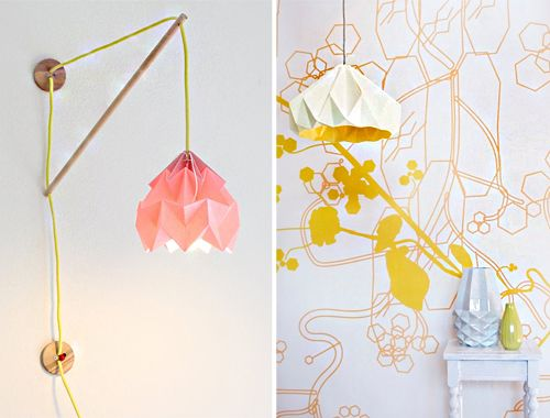Inspiration paper origami lampshades by snowpuppe rainys room inspiration paper origami lampshades by snowpuppe aloadofball Gallery