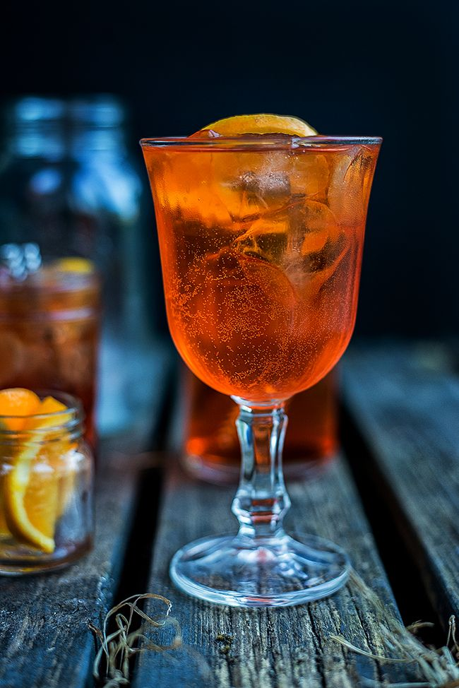 Two retro fabulous, Mad Men inspired cocktails: two ingredient refreshing Aperol Spritz and classic Vodka Negroni.