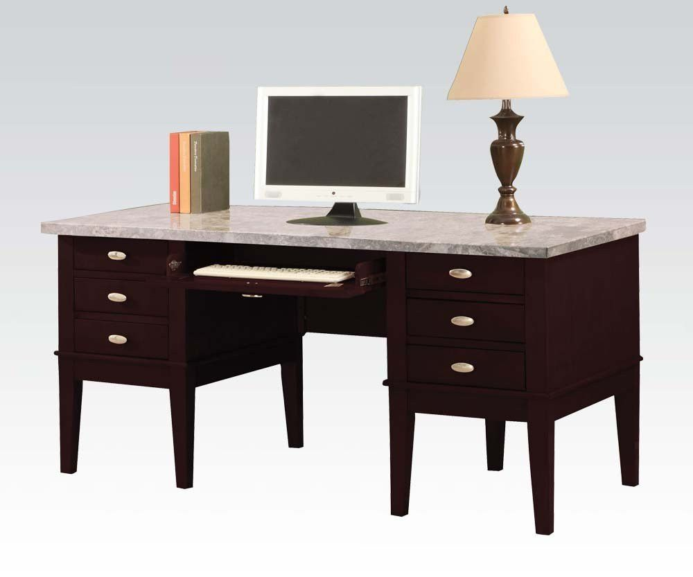 Britney Marble Top Computer Desk 92008
