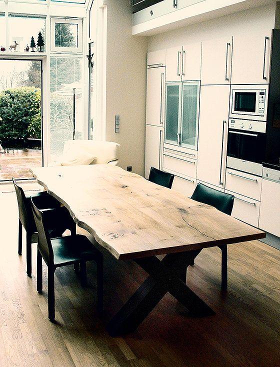 Esstisch Massivholztisch massiv auf Maß Eiche Holztisch rustikal - küche eiche rustikal