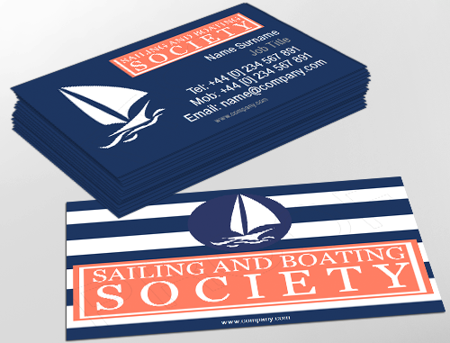 Contemporary business card design ideal for sailing enthusiasts contemporary business card design ideal for sailing enthusiasts customise a range of business card cheaphphosting Choice Image