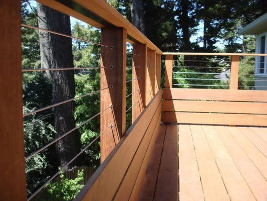 Ipe Deck With Stainless Steel Wire Railing