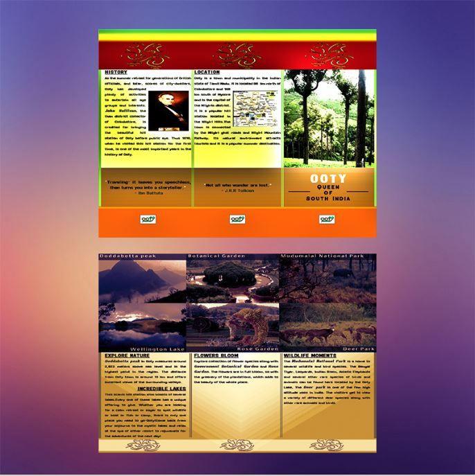 Ooty Tourism Brochure Brochure Design Brochure Template Art
