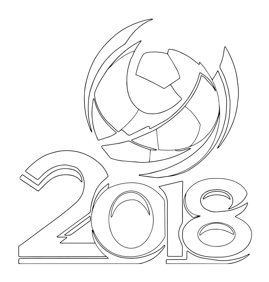 Coloriage Equipe De France Football 2018.2018 A Colorier Coupe Du Monde 2018 Lettering Et Football