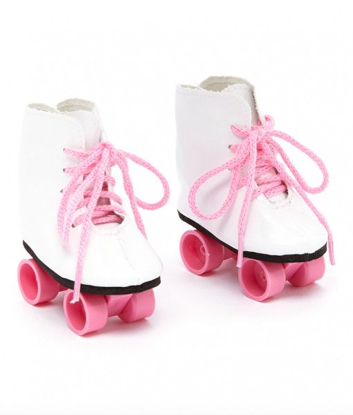 """Doll Clothes 18/"""" Skates Shoes Sport Ice White Fits American Girl Dolls"""