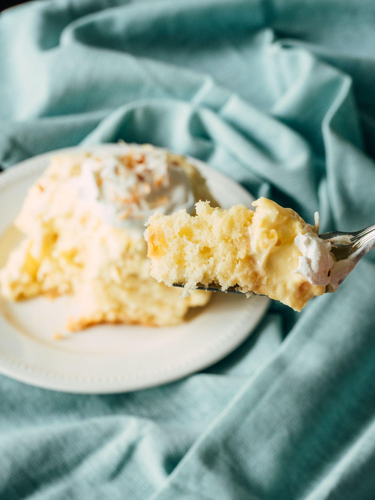 Hawaiian coconut poke cake recipe how sweet eats