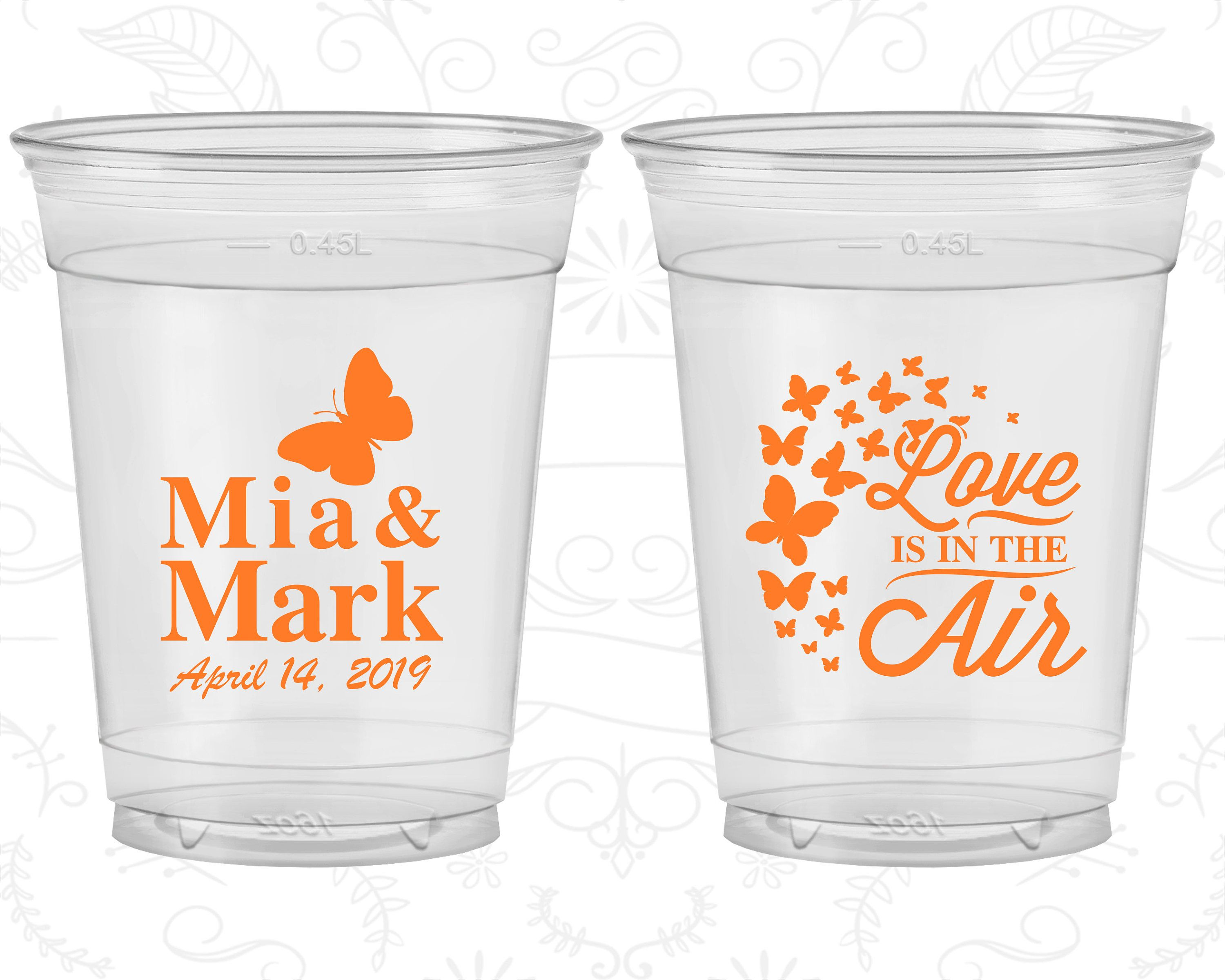 Love is in the Air, Wedding Disposable Cups, Spring