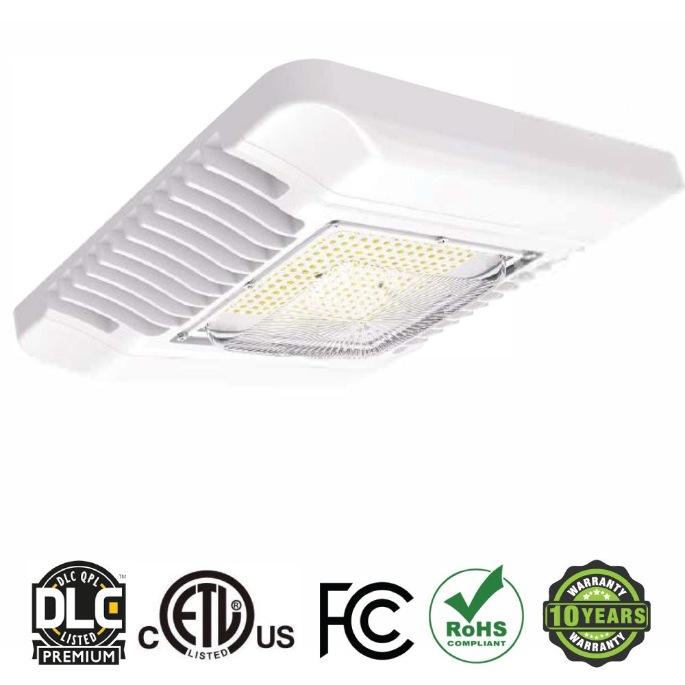 Our Led Canopy Lighting System Has An Extremely Thin Profile Constructed Of Rugged Cast Aluminum The Led Canopy Light I Canopy Lights Led Outdoor Lighting Led