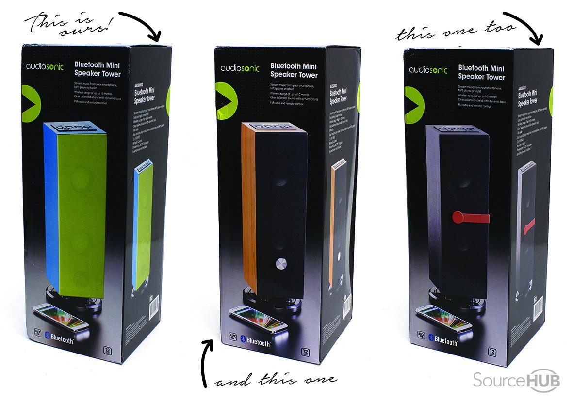 Kmart, Australia - Mini Tower Speakers. - SourceHub Group