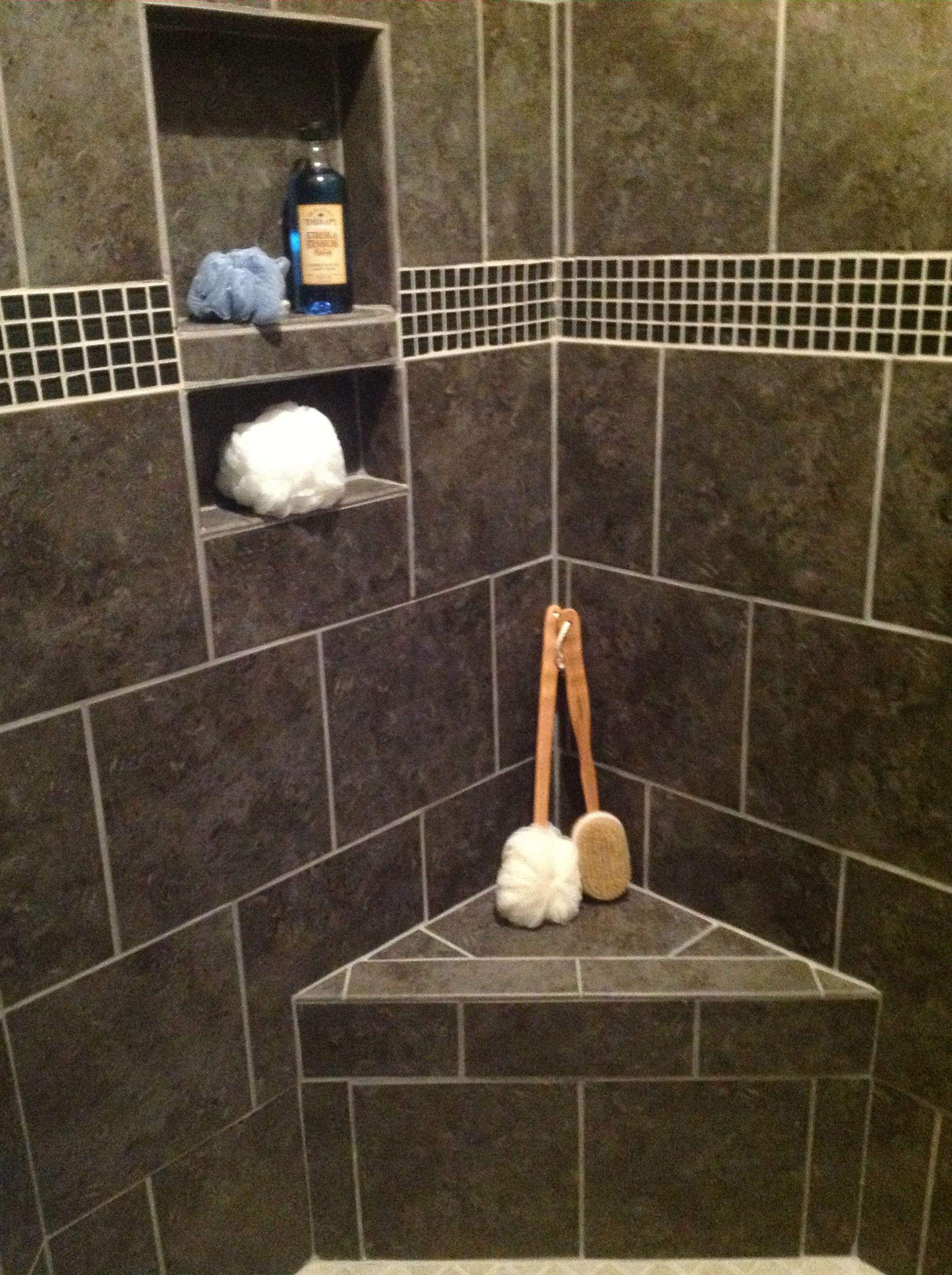 Built-In Shower Seat & Shampoo Niche | Your Dream Home. | Pinterest ...
