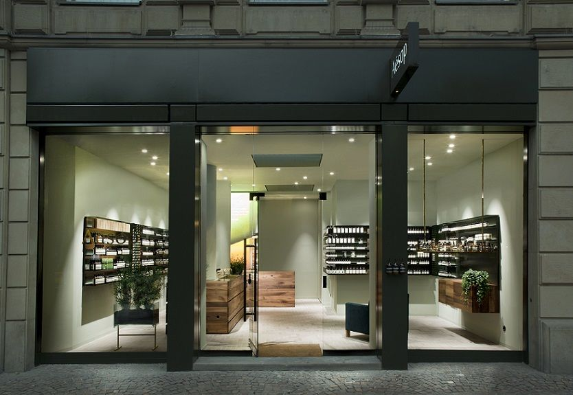 shopfront of aesop 39 s frankfurt signature store with interior design by philipp mainzer 2015. Black Bedroom Furniture Sets. Home Design Ideas
