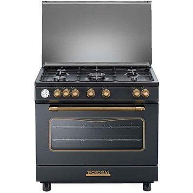 640 euro d 965gvn tecnogas cucina da 90 cm 5 fuochi a gas forno a gas antracite kitchen - Cucina a gas da 90 ...
