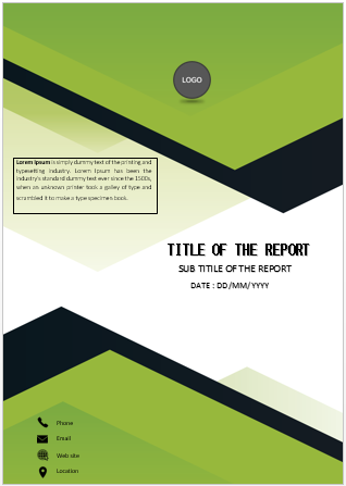 Simple decorative cover page | Cover page template, Cover ...