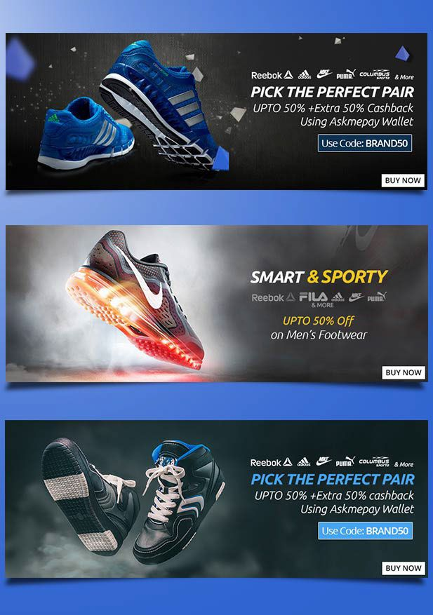 1201fb96de4b13 Shoes Banner Branding on Behance