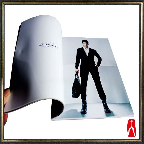 Professional Coated paper clothes catalogue art book/ advertising brochure printing