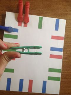 Color Matching Fine Motor Task