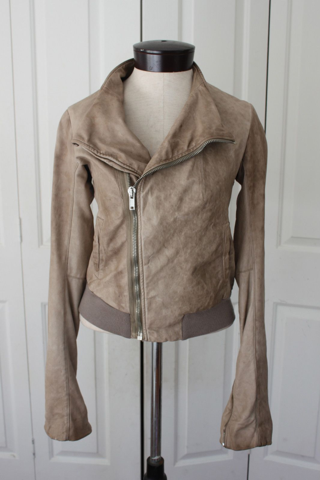My Rick Owens light brown leather jacket