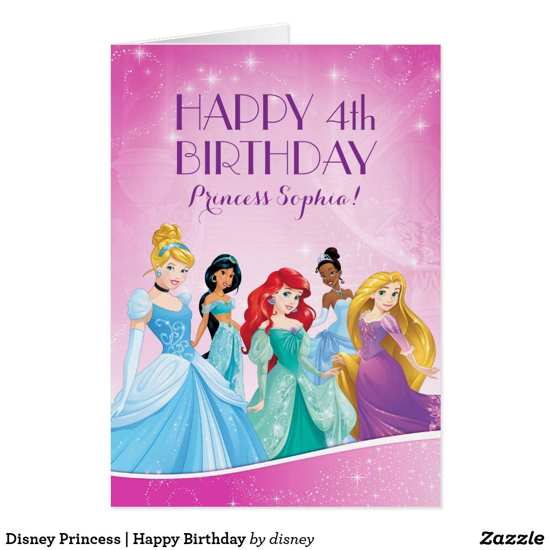 Disney princess happy birthday card birthday cards pinterest disney birthday kristyandbryce Choice Image