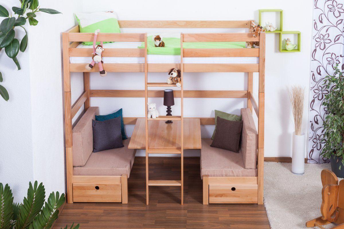Kinderbett mit Bettkasten Tim (umbaubar zu einem Tisch