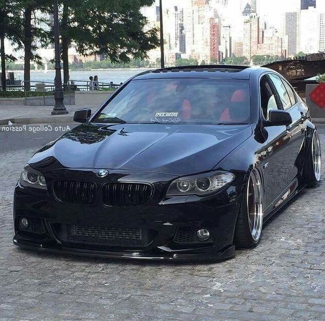Bmw F10 5 Series Black Slammed With Images Bmw Bmw Wagon Bmw 535