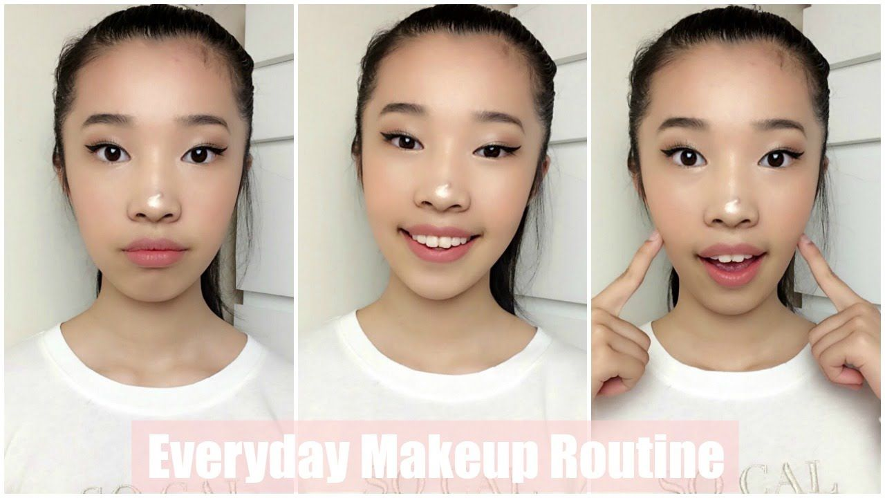 12 Year old Everyday Makeup Routine  Floral Fashion  Makeup