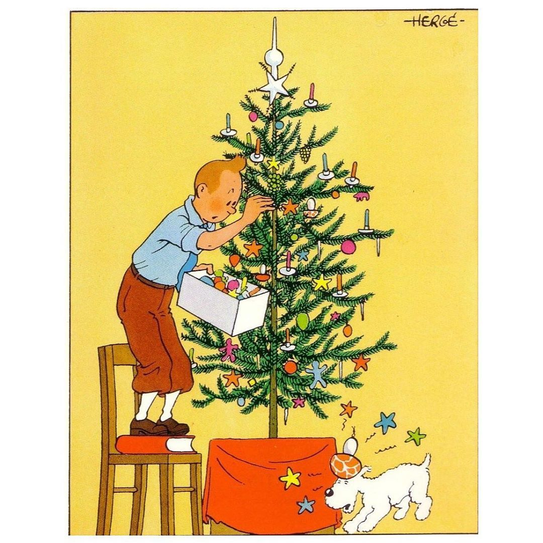 "Drew Poling on Instagram ""tintin hergé Christmas"