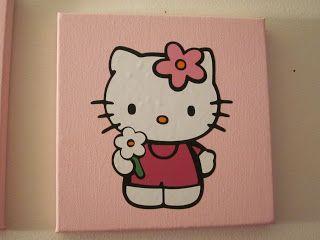 Crafting Misfit Hello Kitty Cartidge Up For Grabs Kids Canvas Art Disney Canvas Art Mini Canvas Art
