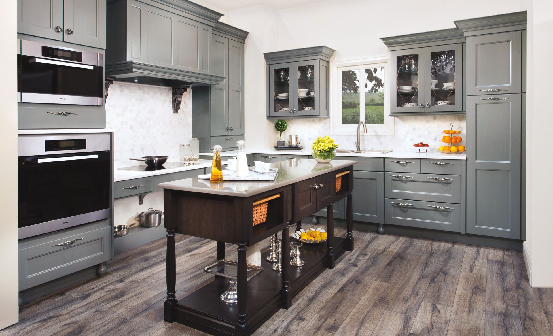 Wellborn Home Grey Kitchen Floor Grey Wood Floors Kitchen Grey Kitchen Cabinets
