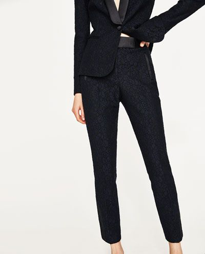 6ce207f7 Image 2 of LACE TUXEDO TROUSERS from Zara | Clothes in 2019 | Tuxedo ...