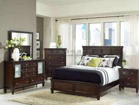 Camellia Panel Bedroom Set (Cappuccino) by Coaster Furniture