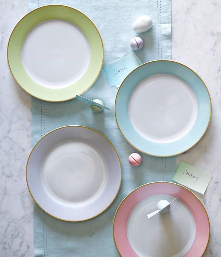Blue Pastel Dinner Plates