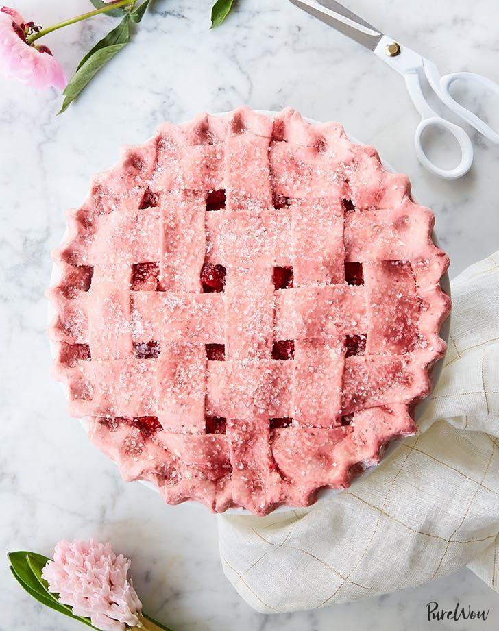 Strawberry Pie with Strawberry Crust
