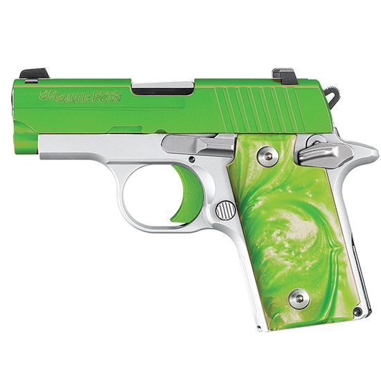 Sig Sauer Sig Sauer P238 Pistol 380ACP Green Envy NS 6 Rounds - firearm bill of sales