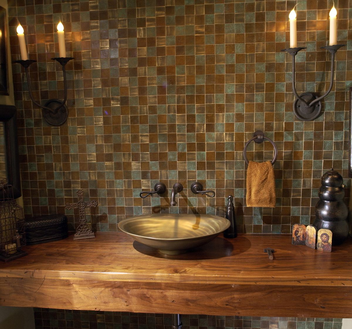Ethiopian Crosses In Feb Mar Elle Decor: Black Walnut Sink From Craft Art