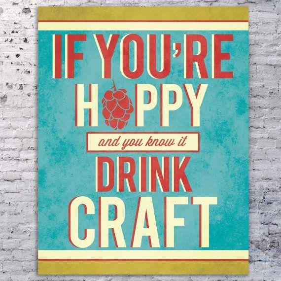 Beer Quote Art Print Sign Craft By SmartyPantsStudio 2400