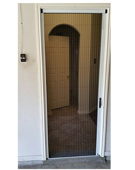 Retractable Screens For Your Door To Keep The Bugs Out And Let The Breezes In Add This Retractable Screen Door Screen Door Sliding Screen Doors Vinyl Exterior