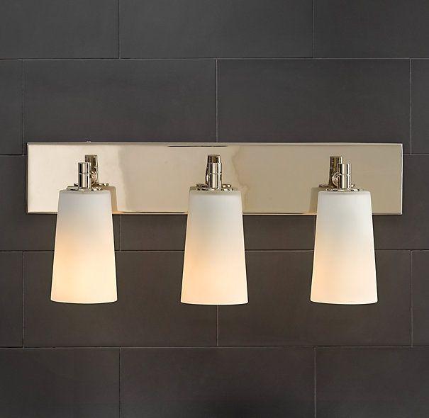 Restoration Hardware Spritz Triple Sconce Bathroom Vanity Light