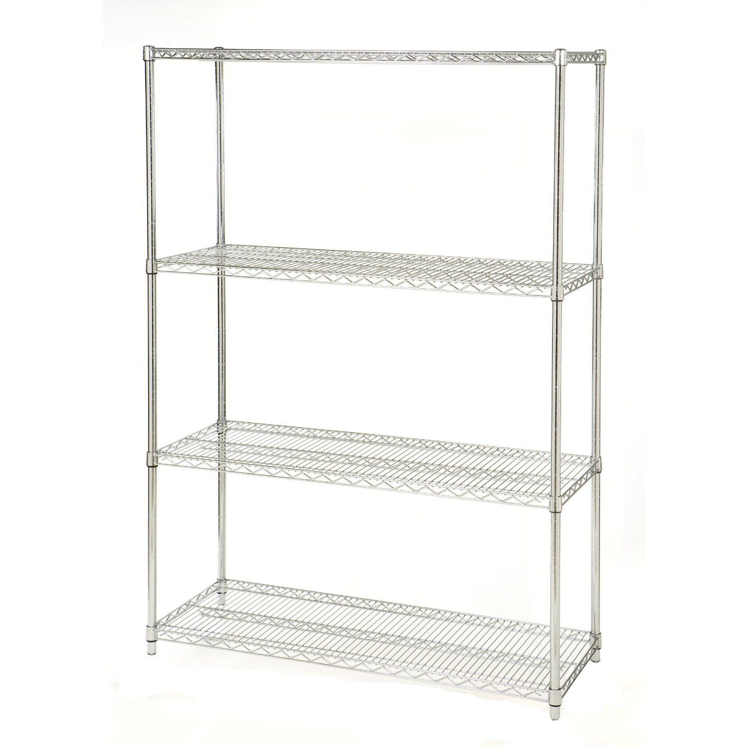 48 Inch Wide 4 Shelf Metal Storage Shelving Unit 72 Inch High Shelving Racks Storage Shelves Wire Shelving