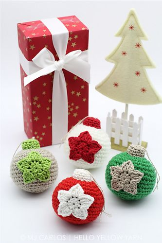 Crochet Christmas Baubles Pattern By Mj Carlos Christmas
