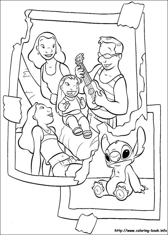 Lilo and Stitch coloring picture | To print | Pinterest | Colorear ...